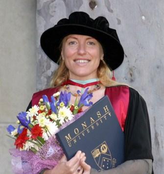 Graduation from Monash University